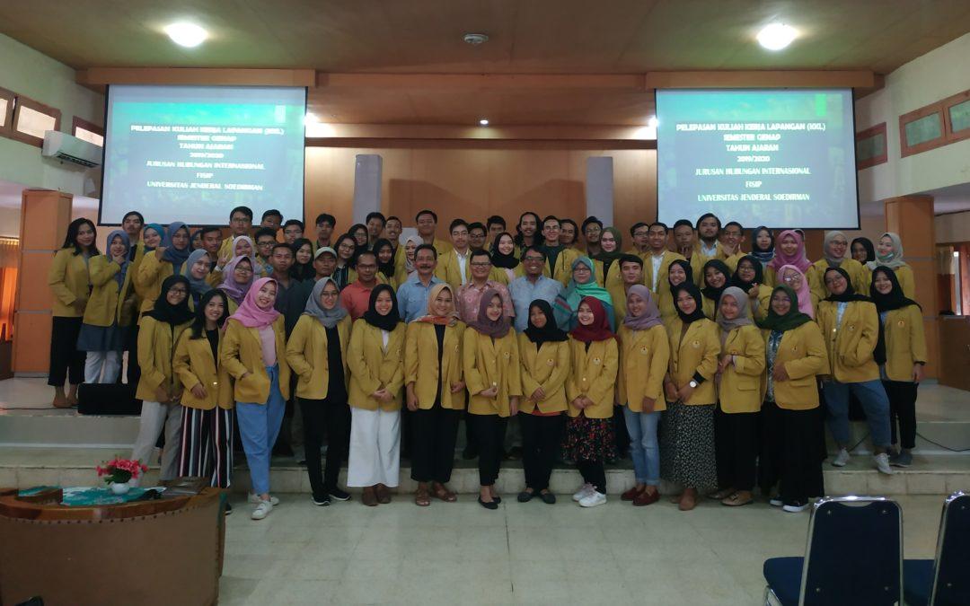 Pelepasan Kuliah Kerja Lapangan Jurusan Hubungan Internasional