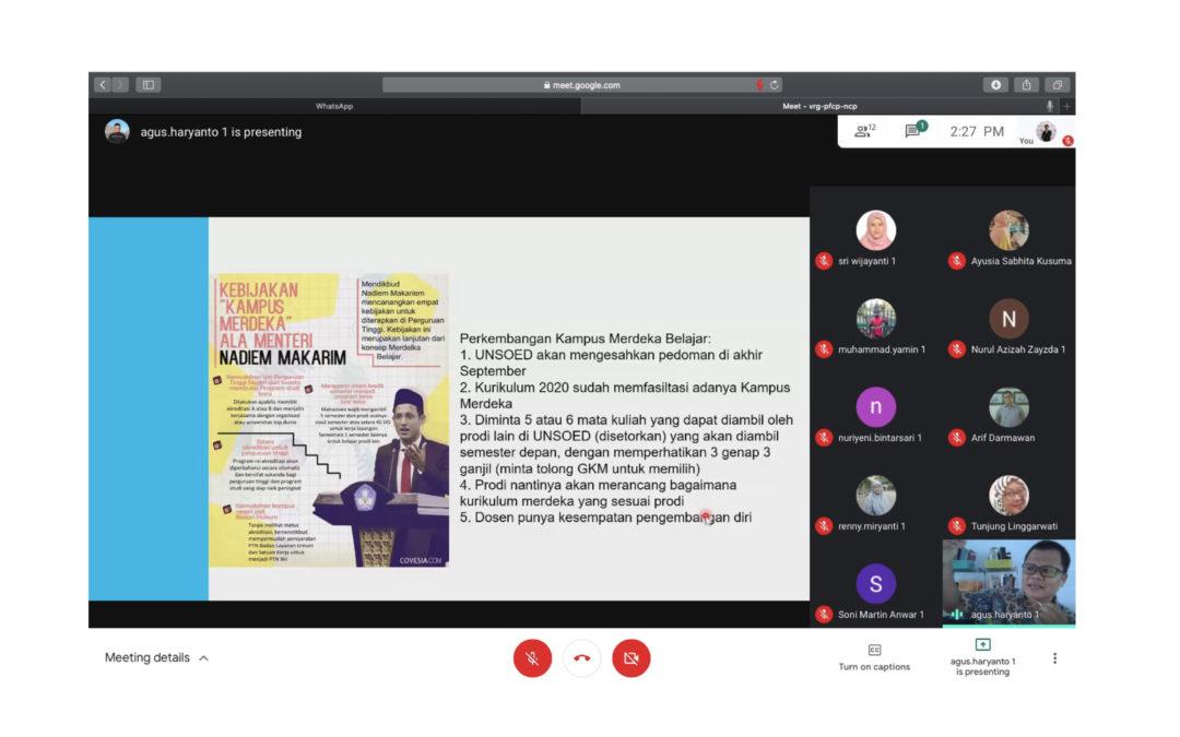 Jurusan HI Bahas Implementasi Ide 'Kampus Merdeka' dan Rencana Pendirian Kelas Internasional