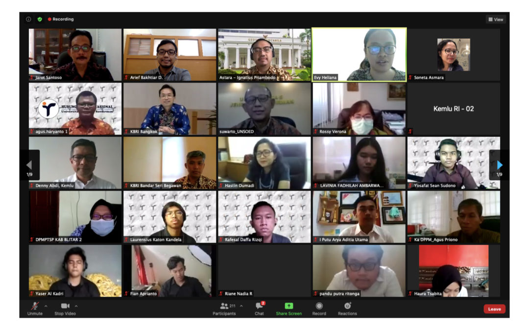 Kemenlu RI dan Jurusan HI Selenggarakan Seminar Diplomasi: Refleksi Akhir Tahun Diplomasi Indonesia di Asia Tenggara